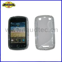 S Type,TPU Gel Case for Blackberry Curve 9380,S Line Wave Soft Case Cover