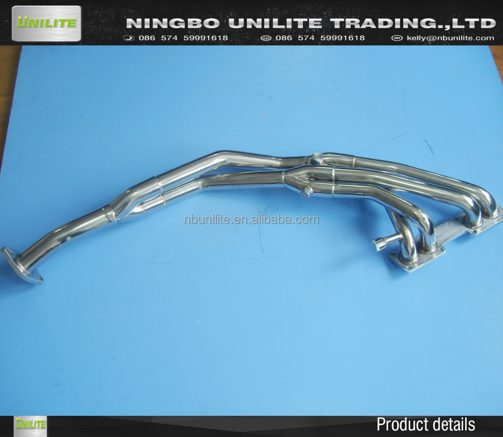 Stainless Steel Exhaust header for 1989-1990 Nissan 240SX S13 2.4L SOHC (KA24)