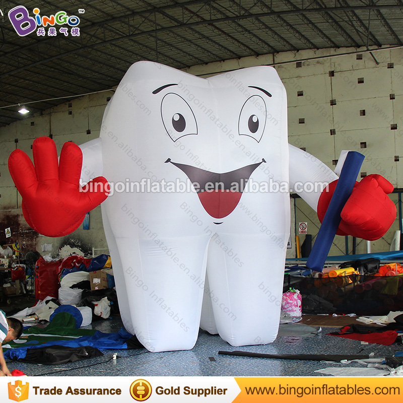 Dentist advrertising inflatable tooth balloon with inflatable toothbrush toy