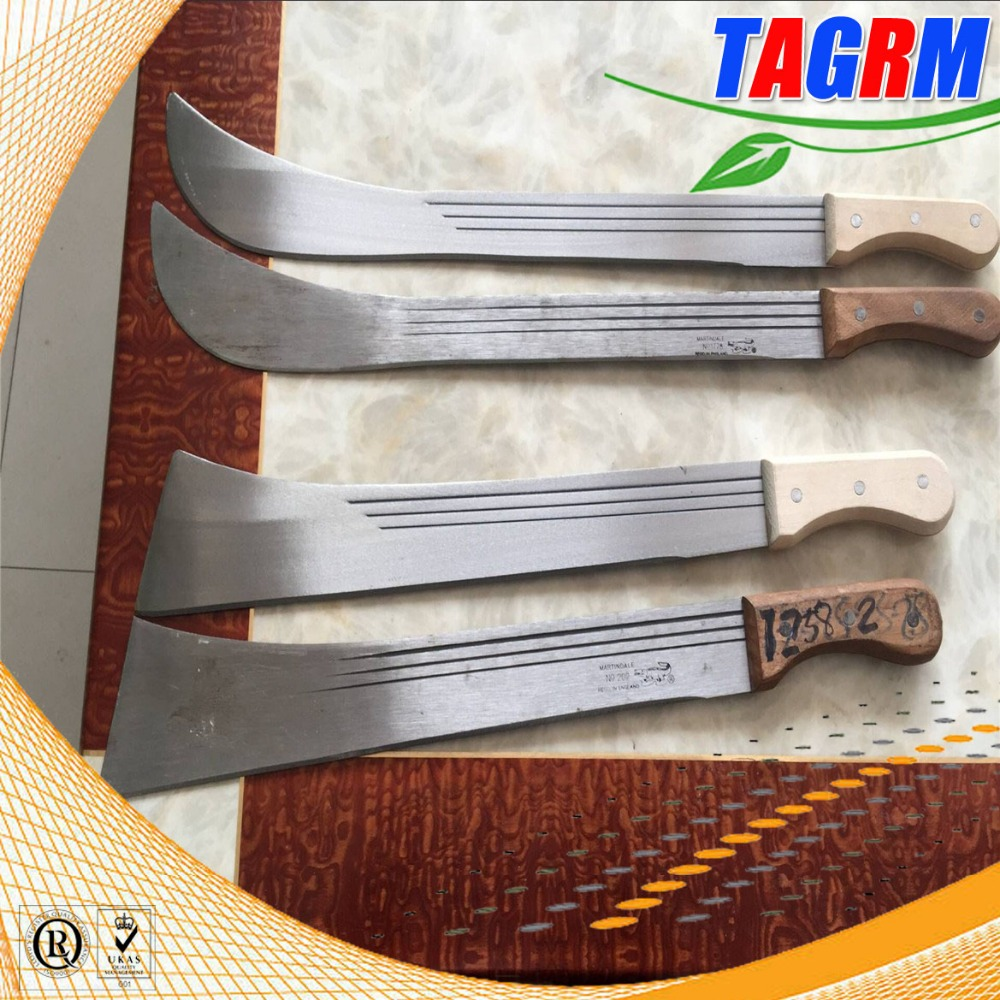 Wooden handle sugarcane cutting <strong>knives</strong> / sugarcane cutlass for sale 008613471174049