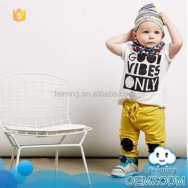 Baby clothes factory 2016 cool letter printed korean summer children clothing casual fashion boys clothing set