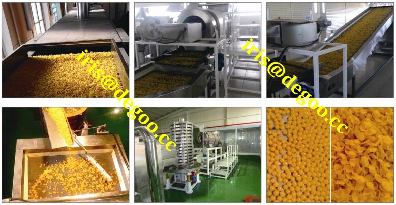 Choco 500kg per hour coco ball frosting corn flakes making equipment Jinan DG machinery