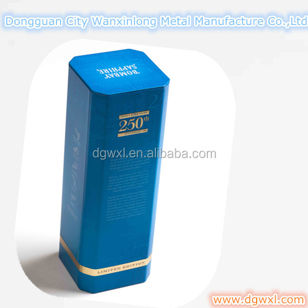 Special shaped wine tin box