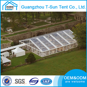 High Quality Luxury Outdoor Transparent Tents Clear Roof Marquee Party Wedding Tent For 500 People
