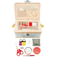 D&D craft box with sewing accessories notions handmade storage box fabric sewing basket