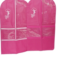 best selling 2016 non woven and PEVA material dance garment bags