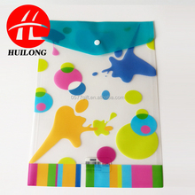 Huilong factory cheap price document plastic PP clear file folder /document bag