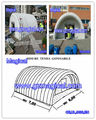 Multipurpose inflatable tunnel tent structure