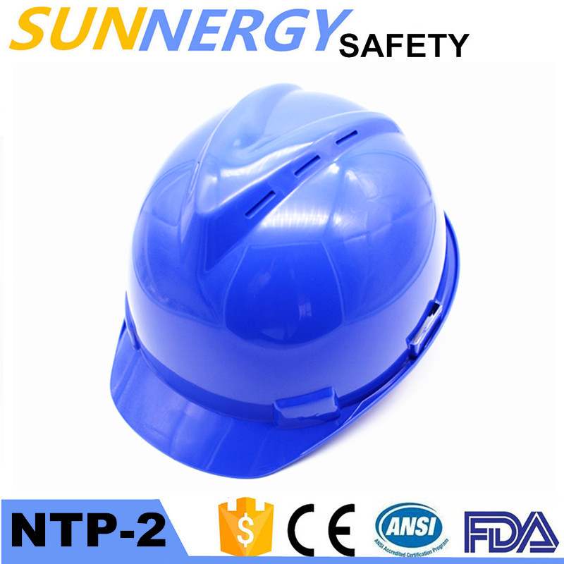 ANSI CE Rated V Shape Safety Helmet with Ear Muff