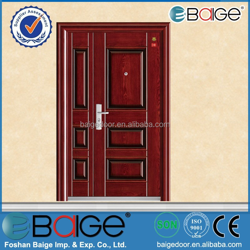 BG-F9068 fire door bolt/anti fire door/steel fire door with panic push bar
