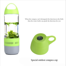 Water Bottle Mini Bluetooth Speaker Portable Cups Compass Wireless Speaker Outdoor Sound Stereo Music Player