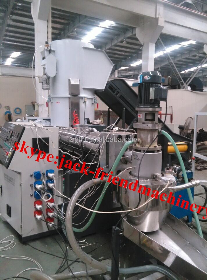 waste plastic film/fiber agglomerating machine for recycling