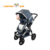 Buy online shop hot sale easy and small foldable compact side by side light classic baby boy 3 in one 4 in 1 pram for steelcraft