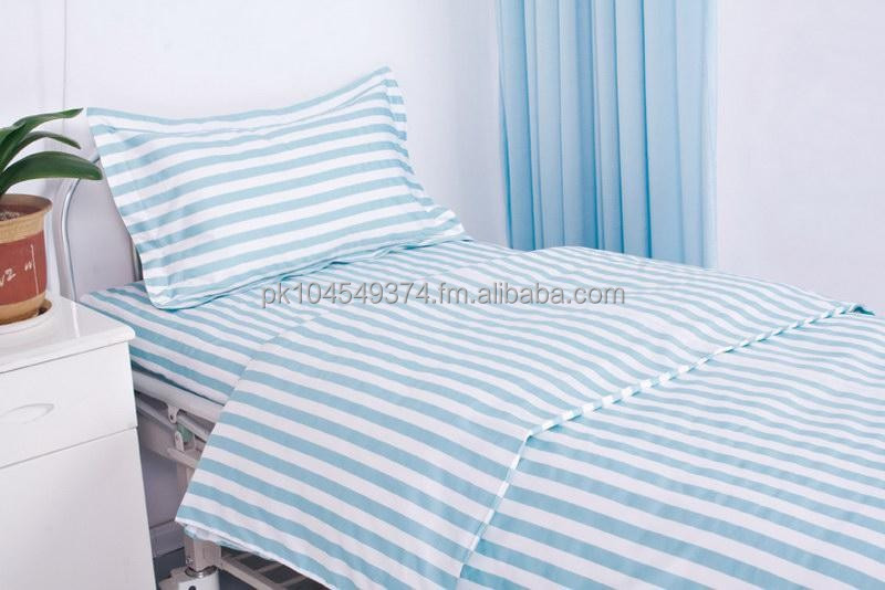 Hospital Bed Linen (Sateen stripe + Percale)