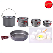 Camping Cookware, 15 Piece Outdoor Camping Pan for 5-6 Person, Non-toxic and Odorless Camping Cookware Mess Kit for Camping.