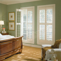 fire plantation shutter pvc window shutters from china