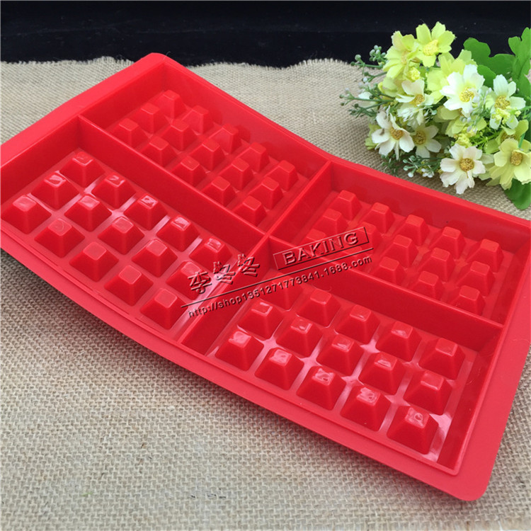 Even large 4 lattice waffle die DIY silicone cake mold loose cake