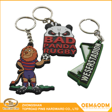 Custom pvc keychain artgifts souvenir 3D custom keyring silicon keychain metal ring soft pvc keychain for phone /bag