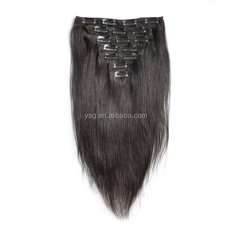Free Sample Hair Extension 7piecesset Clip In Hair Extensions For