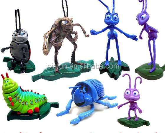 Simulation insect pvc figure , newest vivid plastic insects toys for kids, custom plastic miniature insect