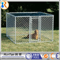 high quality large steel dog cage/cheap chain link dog kennels(OEM&ODM)