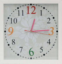 INTCO classic white plastic moulding digital wall clock