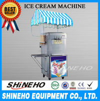 S005 Hot Sale 3 Flavor Soft Serve Ice Cream Cart Machines Price For Sale