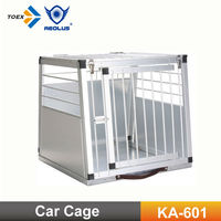 KA-601 Car Crate Pet Carrier Aluminum Dog Crate Foldable Pet Cage