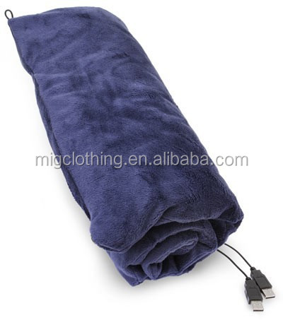 Battery heated blanket