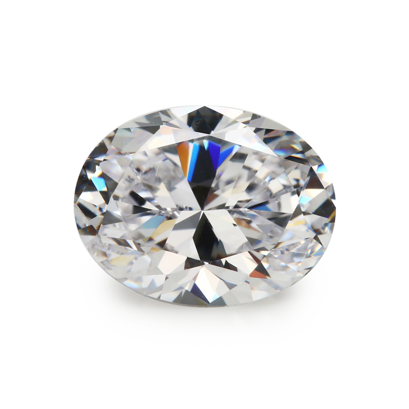 3A Grade Factory Wholesale Oval Cut Cubic Zirconia Stones