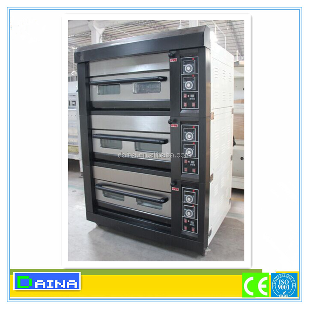 Used commercial kitchen equipment - 2 Deck Kitchen Equipment 220v Pizza Making Machine Used Bakery Gas Oven For Sale