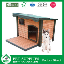 wooden dog kennel/dog house with balcony