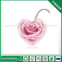 Beautiful rose shape rose fragrance custom car air freshener