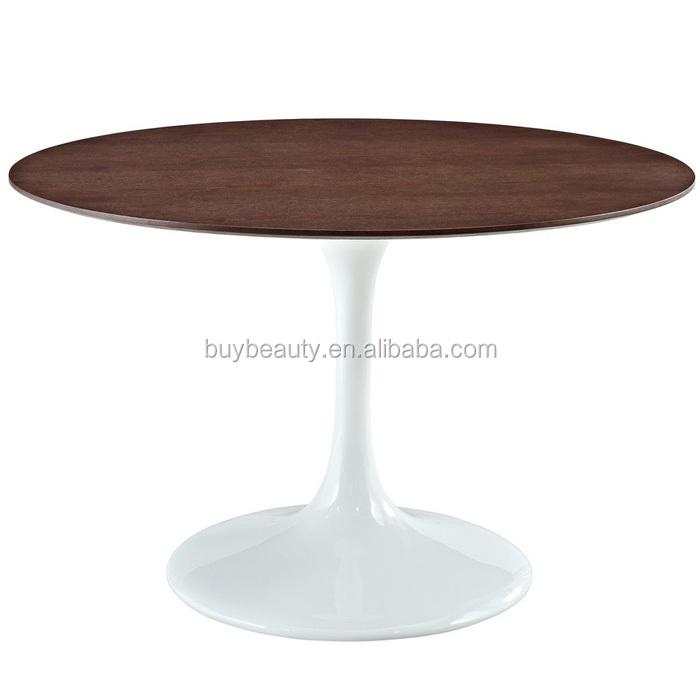 round wood top dining tulip table