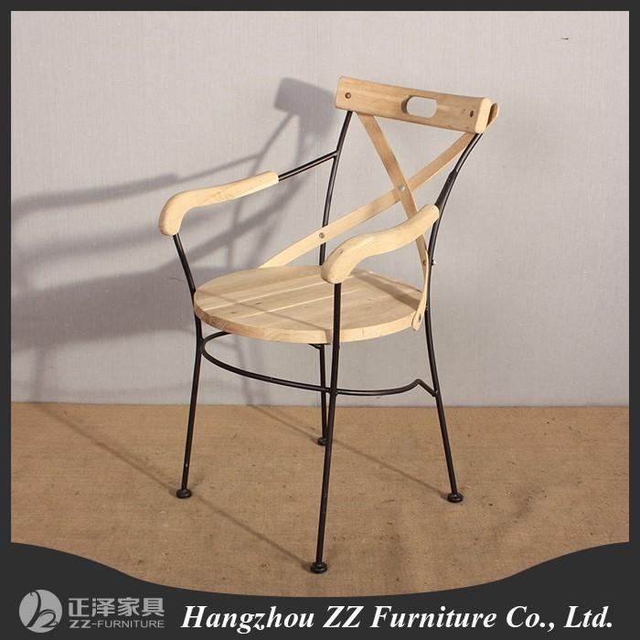 Hierro forjado sillas de comedor de madera con apoyabrazos for Sillas comedor con apoyabrazos