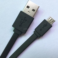 Mobile phone - PC data cables in black or white - 1meter