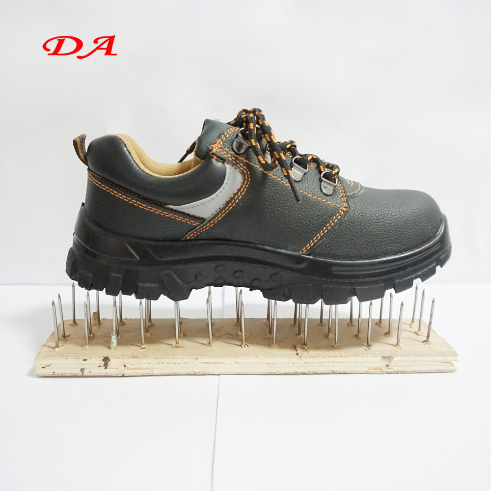 Reasonable Price Cow Leather Smashproof Industrial Safety Shoes