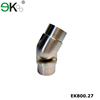 Stainless steel glass railing pipe adjustable handrail tube connector