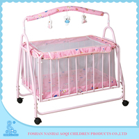 854A Polyester Fabric Portable Baby Beds Daycare Cots For Sale