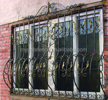 iron window railing grill,Metal product factory iron window grill design for sale