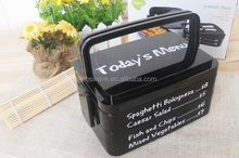 3 layers Lunch box with spoon fork portable handle bento Box container microwave