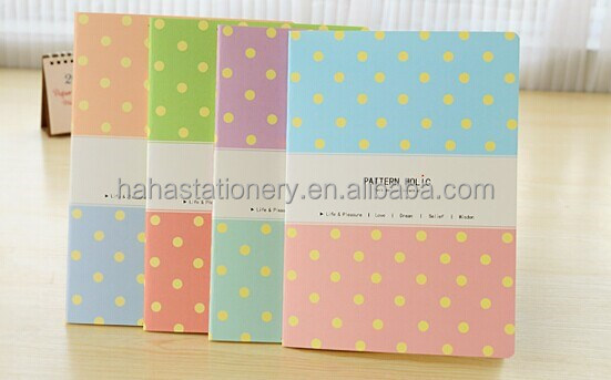 Colored lined notebook paper