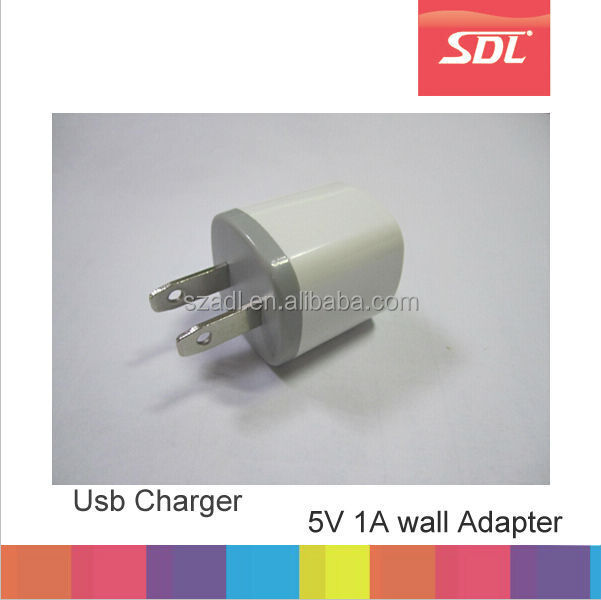 New design EU US 5V 1A wall charger for iphne 5 5s 6 6s , Mini usb travel adapter Factory