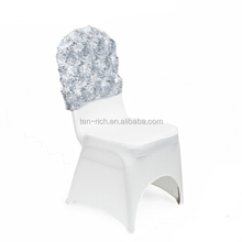 Banquet chair cover with the rosette cap