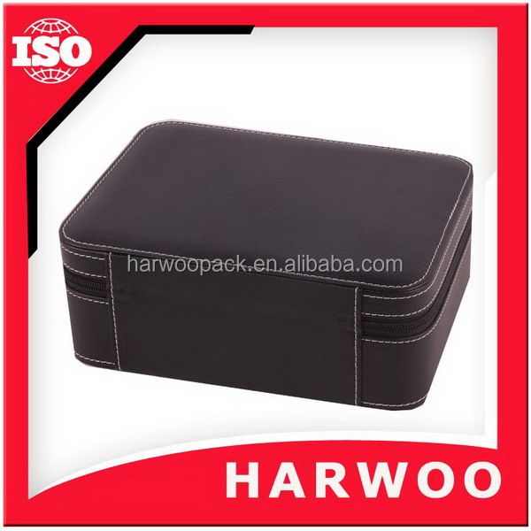 Harwoo Brand Exquisite black custom leather box sunglass