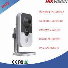 3 Megapixel Hikvision ip camera poe wifi smart home security,smart home camera DS-2CD2432F-IW