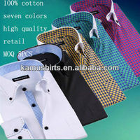 Classic slim fit formal shirts for man office shirts cotton shirts for man MOQ 5PCS