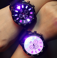 Fashion Women And Men Lovers Colorful Light LED Quartz Watches Watch Manufacturer Supplier Exporter