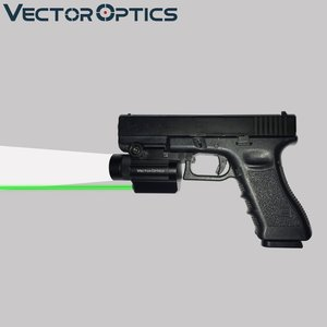 Vector Optics Tactical Pistol Flashlight Green Laser Combo Sight Metal Fit GLOCK