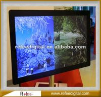 Filleted Corner Design Retail Mall 15 Inch LCD Advertising Machine
